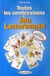 Toutes les combinaisons du jeu lenormand - Intérieur - Format classique