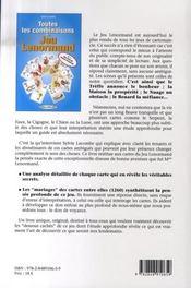 Toutes les combinaisons du jeu lenormand - 4ème de couverture - Format classique