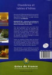 Chambres et tables d'hôtes (édition 2011) - 4ème de couverture - Format classique