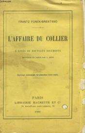 L'Affaire Du Collier - Couverture - Format classique