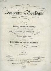 Souvenirs De Boulogne - Deux Duos Pour Piano Et Violon - N°1 : Serenade Variee. - Couverture - Format classique