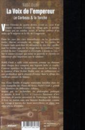 La voix de l'empereur ; le corbeau et la torche - 4ème de couverture - Format classique