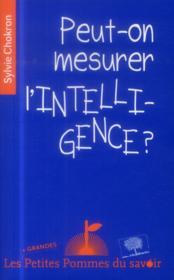 Peut-on mesurer l'intelligence ? - Couverture - Format classique