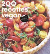 200 recettes vegan - Couverture - Format classique