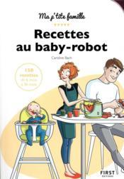 Mes recettes au baby-robot - Couverture - Format classique