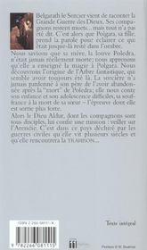 Polgara la sorciere t.1 ; le temps des souffrances - 4ème de couverture - Format classique