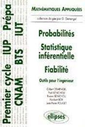 Probabilites Statistique Inferentielle Fiabilite Outils Pour L'Ingenieur - Intérieur - Format classique