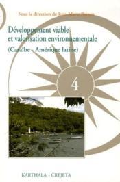 Developpement viable et valorisation environnementale. enjeux, menaces et perspectives (caraibe - am - Couverture - Format classique