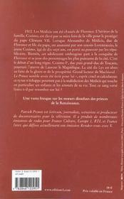 La malediction des medicis t.2 ; les lys de sang - 4ème de couverture - Format classique