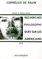 Recherches philosophiques américains t.1 et t.2 - Couverture - Format classique