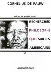 Recherches philosophiques américains t.1 et t.2 - 4ème de couverture - Format classique