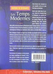 Histoire de revenants t.2 ; les temps modernes - 4ème de couverture - Format classique