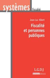 Fiscalité et personnes publiques - Couverture - Format classique
