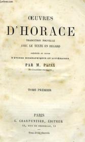 Oeuvres D'Horace, Tome I - Couverture - Format classique
