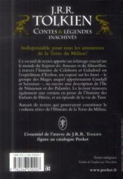 Contes et légendes inachevés ; intégrale - 4ème de couverture - Format classique