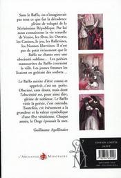 Poèmes luxurieux de la Venise du XVIII siècle - 4ème de couverture - Format classique