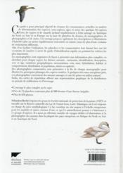 Canards, cygnes et oies d'Europe, d'Asie et d'Amérique du Nord - 4ème de couverture - Format classique