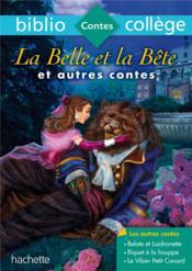 La Belle et la Bête et autres contes - Couverture - Format classique