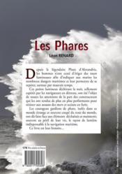 Les phares - 4ème de couverture - Format classique