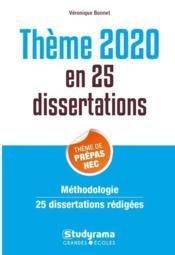 25 dissertations sur le thème de culture général prépas commerciales (édition 2020) - Couverture - Format classique