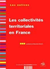 Les collectivites territoriales en france - Couverture - Format classique
