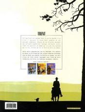 Trent ; intégrale t.1 - 4ème de couverture - Format classique