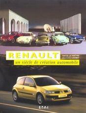 Renault ; un siècle de création automobile - Intérieur - Format classique