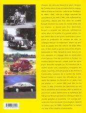 Renault ; un siècle de création automobile - 4ème de couverture - Format classique