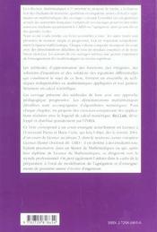 Methodes D'Approximation Equations Differentielles Applications Scilab Niveau L3 - 4ème de couverture - Format classique