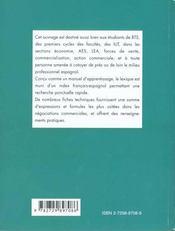 Abc Lexical De L'Action Commerciale Espagnol - 4ème de couverture - Format classique