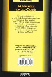 Le Mystere Du Lac Carre - 4ème de couverture - Format classique