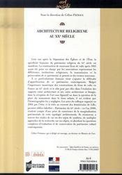 Architecture religieuse du XXe siècle en France : quel patrimoine ? - 4ème de couverture - Format classique
