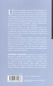 Jean-jacques rousseau [biographie] - 4ème de couverture - Format classique