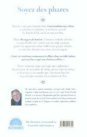 Messagers De Lumiere - Soyez Des Phares - 4ème de couverture - Format classique