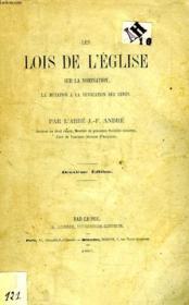 Les Lois De L'Eglise Sur La Nomination, La Mutation & La Revocation Des Cures - Couverture - Format classique