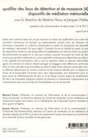 Questions De Communication - 4ème de couverture - Format classique