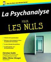 La psychanalyse pour les nuls - Couverture - Format classique