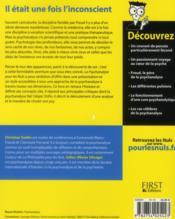 La psychanalyse pour les nuls - 4ème de couverture - Format classique