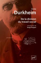 De la division du travail social (8e édition) - Couverture - Format classique