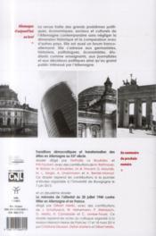 REVUE ALLEMAGNE D'AUJOURD'HUI N.207 ; les femmes dans la vie politique en Allemagne depuis 1945 ; Jürgen Habermas et l'Europe - 4ème de couverture - Format classique