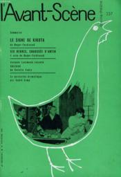 L'AVANT-SCENE - FEMINA-THEATRE N° 237 - LE SIGNE DE KIKOTA de ROGER FEDINAND - Couverture - Format classique