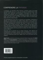 Comprendre la physique - 4ème de couverture - Format classique