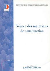 Negoce des materiaux de construction - Intérieur - Format classique