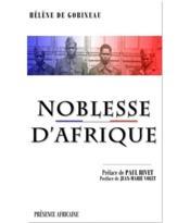 Noblesse d'Afrique - Couverture - Format classique