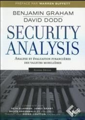Security analysis ; analyse et évaluation financières des valeurs mobilières (6e édition) - Couverture - Format classique