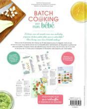 Batch cooking pour mon bébé ; 2h de cuisine pour qu'il mange bien toute la semaine - 4ème de couverture - Format classique