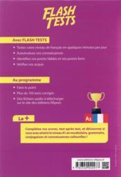 FLE (français langue étrangere) flash tests. A1. testez votre niveau de français ! - 4ème de couverture - Format classique