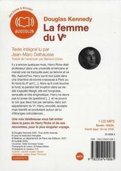La femme du Ve - 4ème de couverture - Format classique