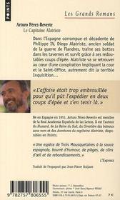 Les aventures du capitaine Alatriste t.1 ; le capitaine Alatriste - 4ème de couverture - Format classique