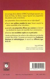 Enfants Ados:Approches Psych. Lexifac 1 - 4ème de couverture - Format classique